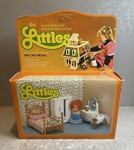 Vintage NEW Mattel 1980 THE LITTLES FLOSSIE BEDROOM SET Diecast Metal #3226
