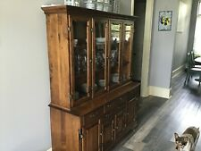 Vintage Tell City China Cabinet and Server #48 andover #8392 #8395