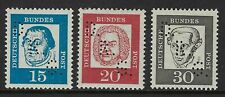 Germany 3 stamps with D.R.G. Rocket Perfins Lochungen VF-NH