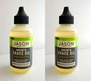 JASON Men's Sensitive Skin Shave Oil, 2 oz (2 pack)