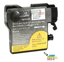 Black Remanufactured Ink Cartridge Brother LC65BK LC65