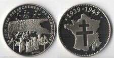Médaille en Nickel du Débarquement 6 juin 1944 ( trésor du Patrimoine - 001 )