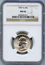 1947-S Washington Quarter NGC MS 66 Certified - San Francisco Mint - KF454