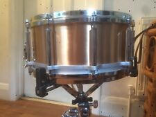 """pearl free floating snare drum 14"""" X 6.5"""" Phosphor bronze beautiful and rare"""