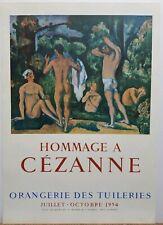 """Paul Cezanne Vintage Exhibition Poster 1954 """"Orangerie Des Tuileries"""" 28.5""""×20"""""""