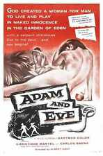 Adam And Eve Poster 01 A2 Box Canvas Print