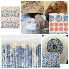 Diy Transfer Paper Pottery Ceramic Clay Glaze Decals Art Underglaze Color Flower