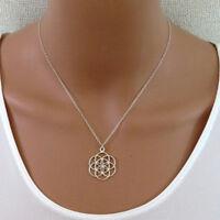 Jewelry Pendant necklace Yoga Mandala Sacred Seed And Flower Of Life Geometry