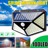 Waterproof 100 LED Solar Power PIR Motion Sensor Wall Light Outdoor Garden Lamp