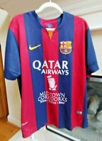 BARCELONA 2014/2015 HOME FOOTBALL SHIRT SOCCER JERSEY CAMISETA BARCA FCB NIKE XL