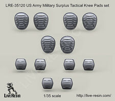 Live Resin LRE35120 1/35 US Army Military Surplus Tactical Knee & Elbow Pads set