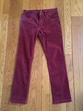 H&M Burgundy Corduroy Jeans 28x29