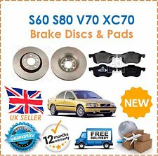 For Volvo S60 S80 V70 XC70 Front Brake Discs 305mm & Brake Pads Set New