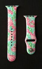 Apple Watch Series 1 2 3 Band Silicone Lobster Roll Pink Blue Green Lilly 42mm