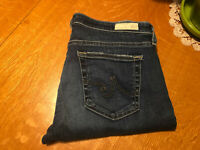 AG ADRIANO GOLDSCHMIED STILT ROLL UP CIGARETTE AGED CROP JEANS 30 X 27 NICE!