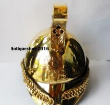 Nautical Brass Reenactment Fireman Helmet Handmade Quality Halloween Gift Item