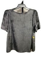 Vince Camuto womens blouse shirt top SILVER GRAY loose size 1X NEW $109 #L271