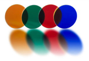 40mm Colored Filter for Spotlights - Blue Dichroic Glass Lens