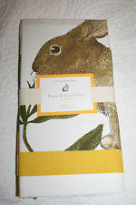 WILLIAMS-SONOMA BUNNY BOTANICAL PRINT TABLE NAPKINS - SET/4 YELLOW