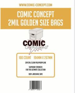 100 x 2 MIL GOLDEN SIZE BAGS 194 x 267mm (APPROX)