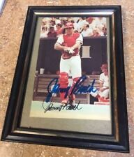 JOHNNY BENCH DOUBLE SIGNED PHOTO HOF VINTAGE CINCINNATI REDS SIGNED AUTOGRAPH