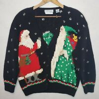 Northern Isles Ugly Christmas Sweater Hand Knit Santa Festive Holiday Cardigan