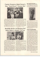 1964 PAPER AD Mattel Bendable Barbie Doll Intro Burping Dolls Article Aawk Aawk