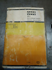 CASE W11 ARTICULATED LOADER OPERATORS MANUAL 9-6011
