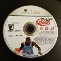 NCAA College Hoops 2K6 (Microsoft Xbox 360, 2006) Rare Video Game - Disc Only