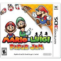 Mario & Luigi: Paper Jam Nintendo 3DS Brand New Free Shipping
