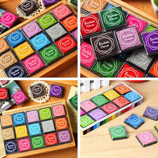 20Pcs DIY Craft Candy Color Finger Print Ink Pad Kids Fashion  for Rubber Stamps