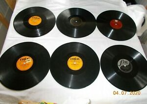 """Lot Of 6 Various Polka Artist On Various Labels  10"""" 78 RPM Records"""
