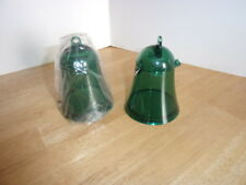 2 New Tupperware Acrylic Bell Ornaments