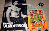 BRADY ANDERSON Baltimore Orioles Baseball Poster 2pc Lot Beefcake Hunk Hot Guy