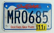 """NICE! SOUTH DAKOTA 2010 GRAPHIC MOTORCYCLE CYCLE LICENSE PLATE """" MR 0685 """" SD 10"""