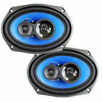 "2) Q Power 6x9"" 700 Watt 3-Way Car Audio Stereo Coaxial Speakers Pair 