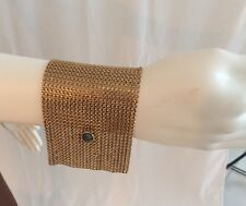 Colette Malouf Draped Chainmail Bracelet In Antique Gold Retail $265
