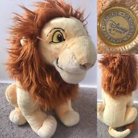 "Disney Store Adult Simba 19"" Large Soft Plush Toy STAMPED The Lion King Rare"