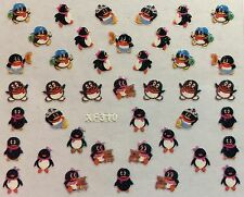 Nail Art 3D Decal Stickers Penguins XF310