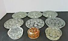 Vintage 9 Lot Vintage Flower Frogs 6 Five Inch 3 Smaler Glass