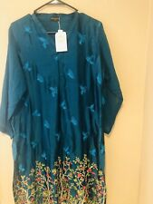 Indian/Pakistani Brand Agha noor Silk Kurti. Large Size