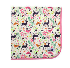 Waterproof Mat Minky Change mat, Bed mat Mini picnic rug Reusable Purple Deer