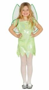 Girls Glitter Fairy Pixie Angel Fancy Dress Costume + Wings Childrens Book Day