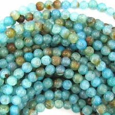 6mm Blue Dragon Veins Agate Round Gemstone Loose Beads 15'' Strand AAA