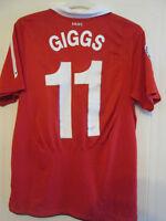 Manchester United Giggs 2010-2011 Home Football Shirt Size Medium /35265