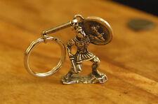 Ancient Greek Themed Keyring Key Chain - Leonidas The Spartan 300 Silver Zamac