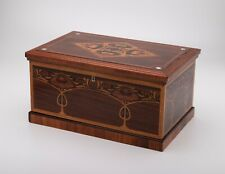 Art Nouveau Jugendstil Mahogany Marquetry Sewing Box