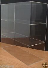 "Acrylic Counter top Display Case 16"" x 6"" x 16"" Show Case Cabinet Shelves"