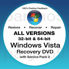 Recovery disc Windows vista all versions   EASY TO USE