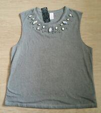 **NEW** Womens Ladies Singlet Tank Top T-Shirt - Size 14